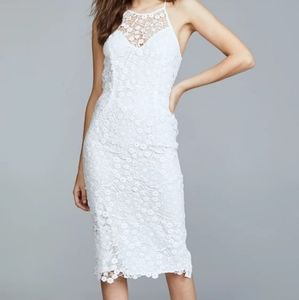 Yumi Kim dress halter laced white sz XS